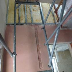Wandtrockenputz-Trockenbauwand-Ständerwerk-